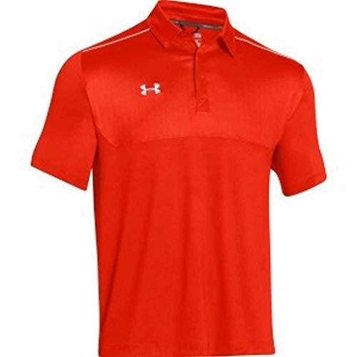 Under Armour Mens Ultimate Polo Golf Shirt Top 1247506 (Orange/White, - Embossed Sport Golf Shirt