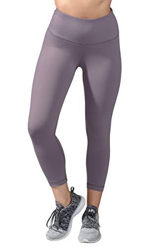 90 Degree By Reflex - High Waist Tummy Control Shapewear - Power Flex Capri - Quicksilver - Large ()