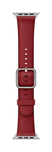 Apple Classic Buckle Smartwatch Replacement Band for Watch Series 1, Watch Series 2, Watch Series 3 - 42mm - Ruby (Product)RED by Apple