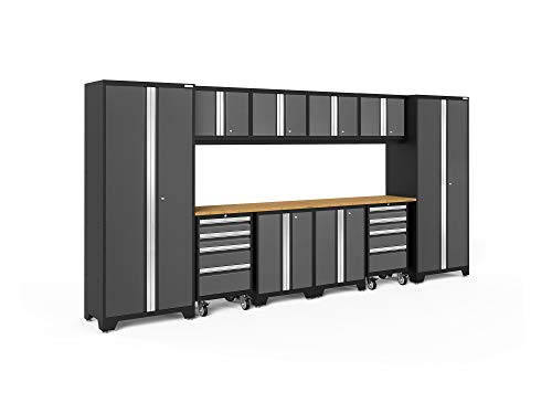 NewAge Products Bold 3.0 Gray 12 Piece Set, Garage Cabinets, 50410