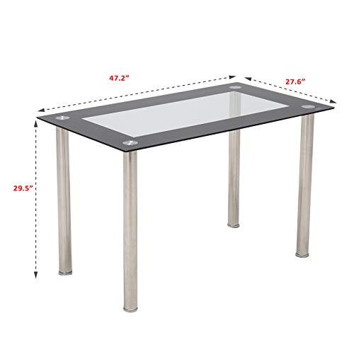 Amazon.com: Mecor Mesa de comedor moderna minimalista de ...