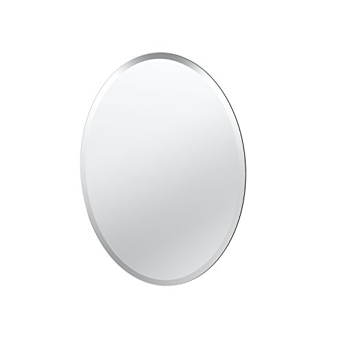 Gatco 1800 Flush Mount Frameless Oval Mirror, - With Mirrors Oblong Bathrooms