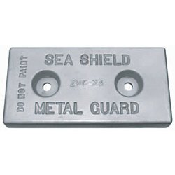 Hull Bolt on Zinc Anodes (ZHC -23) 5/8'' holes on 6'' centers - 1-1/2 Counter Bored holes by Sea Shield Marine