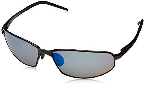 - Serengeti 8260 Granada, Satin Black Frame, Polarized 555nm Blue Lens