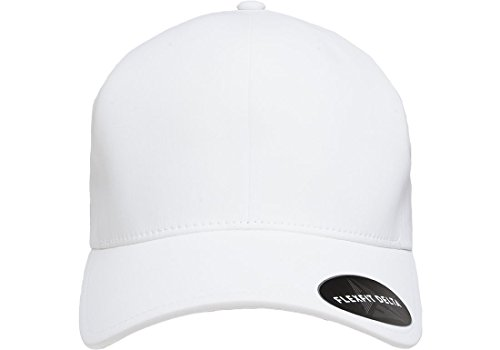 Flexfit Men's Seamless Fitted Delta Cap, White, - Fit White Flex Hat
