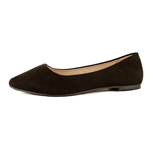 (Guilty Shoes - Angie-28/53 Black Suede, 8)