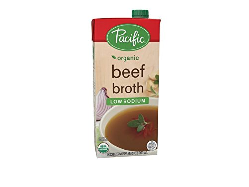Pacific Foods Organic Low Sodium Beef Broth, 32-Ounce Cartons, 12-Pack