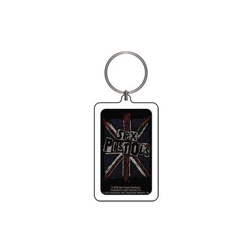 Licenses Products Sex Pistols Cross Lucite Key Chain
