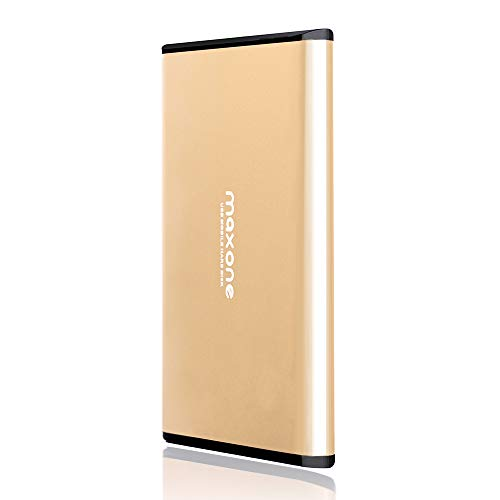 Portable External Hard Drive 250GB - Maxone Ultra Slim 2.5'' External HDD USB 3.0 for PC, Mac, Laptop, Chromebook - Gold (200gb Hard Drive External)