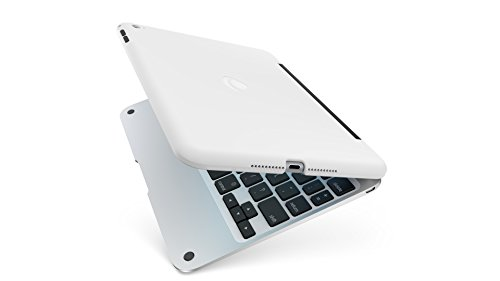 Incipio Clamcase Pro - All-in-one Keyboard Case for iPad mini 4 - White/Silver (White Silver Mini)