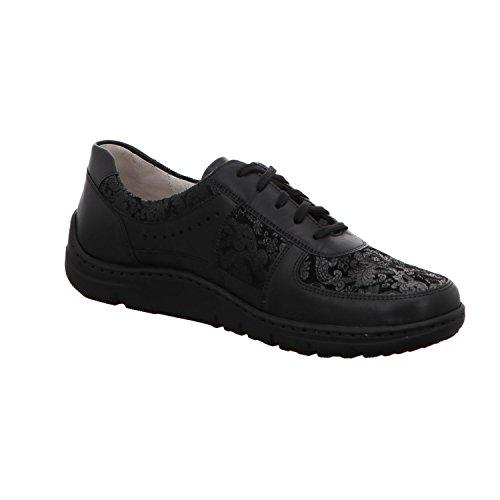 À Femme Pour Waldläufer Chaussures De Lacets Noir Ville qzzP4R