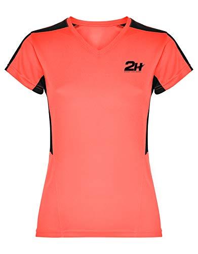 Camiseta Mujer técnica de pádel 2H Coral VIXIA, S: Amazon.es ...