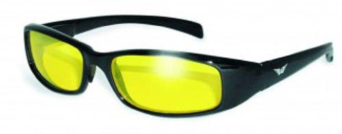 Global Vision Eyewear New Attitude Sunglasses, Yellow, Yellow