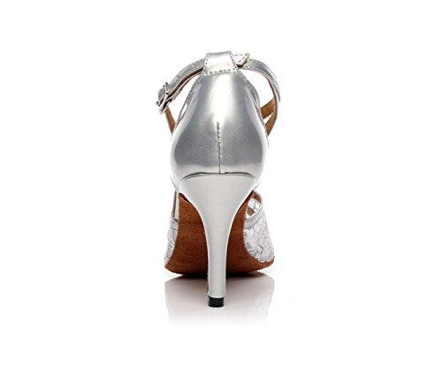 Silver Tango 5 Dance High Our33 EU32 Jazz Samba JSHOE 5cm heeled8 Heels Salsa Chacha Shoes Modern Latin Sandals Shoes UK2 Women's W7U7cqRB6