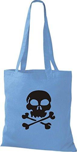 Shirtinstyle - Cotton Fabric Bag Women - Surf Blue