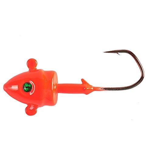 (kathy Store INC 2pcs Bait Swim Jig Head , Lead Fish jig Heads Bass Lure Best Match With Soft Jig Head Bait (Red, 3/4-ounce-2pcs))