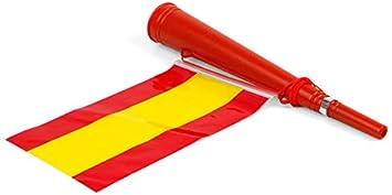 Atosa-22359 Atosa-22359-Corneta con Bandera De España 36X6-Mundial De Fútbol Y Deportes, Color Rojo y Amarillo (22359): Amazon.es: Juguetes y juegos