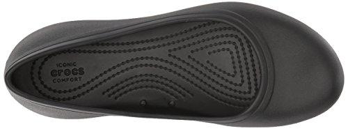 Crocs Women's Work Flat Food Service Shoe, Black, 8 M US by Crocs (Image #8)
