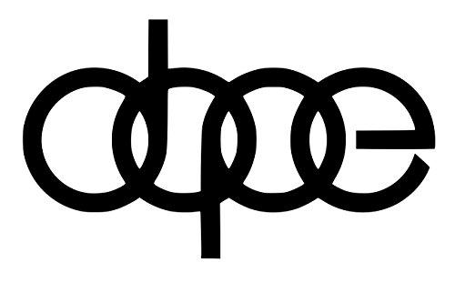 UR Impressions Blk Dope Decal Vinyl Sticker Graphics for Audi A3 A4 A5 A6 A8 Allroad S4 S5 S6 S7 RS 3 4 5 7 TT R8 Q3 Q5 SQ5 Q7 Car SUV Wall Window Laptop|Black|7 X 4.1 Inch|URI232-B