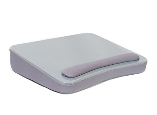 Sofia + Sam Lap Desk (Silver) | Memory Foam Cushion | Large surface area for Crafts, Reading and Laptops | Supports Laptops up to 17 inches by Sofia + Sam