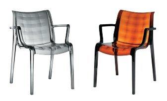 Idea Sillas Bar 4, sillas de policarbonato AD inyectado, de Exterior ...