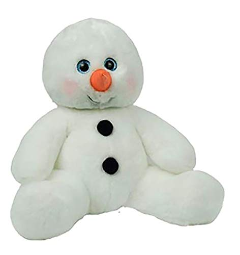 Cuddly Soft 16 inch Stuffed White Snowman...We Stuff 'em...You Love 'em! (Snowman Stuffed Large)