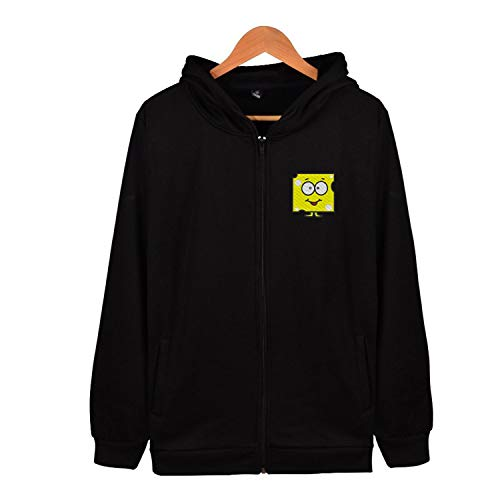 Sxiuyou Cartoon Cheese Outdoor Mens Zip Up Hoodie Lightweight Pocket Sweatshirt Pullover Jacket