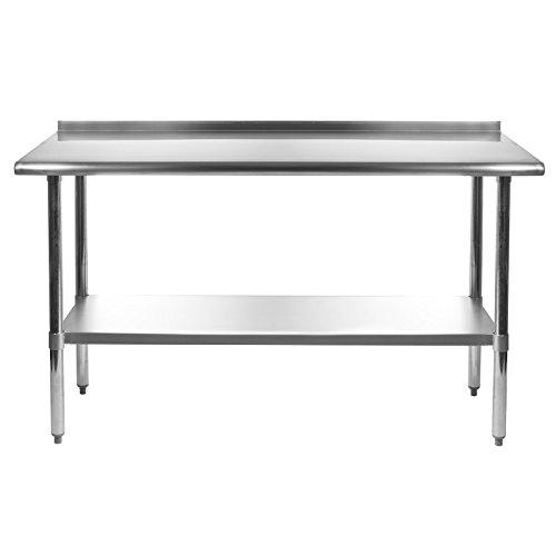 Commercial Kitchen Designer Jobs In Uae: Gridmann NSF Stainless Steel Commercial Kitchen Prep & Work Table W/ Backsplash