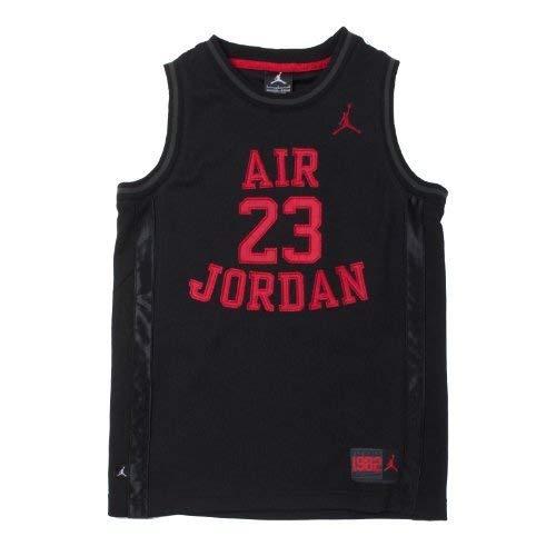 6ce0b9fb62ad8e Nike Jordan Boy s Youth Classic Mesh Jersey Shirt (Black Red