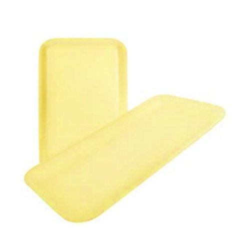 Yellow Foam Meat Tray - CKF 10SY, #10S Yellow Foam Meat Trays, Disposable Standart Supermarket Meat Poultry Frozen Food Trays, 500-Piece Bundle