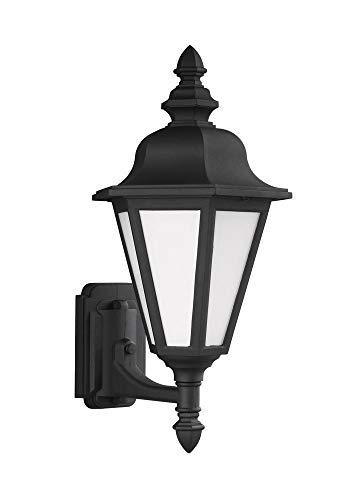 (Sea Gull Lighting 89824EN3-12 Medium Uplight One Light Outdoor Wall Lantern, Black)