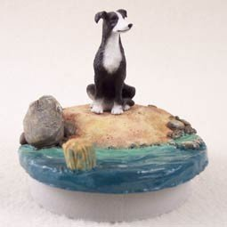 Conversation Concepts Miniature Greyhound Black & White Candle Topper Tiny One ''A Day on the Beach'' by Conversation Concepts