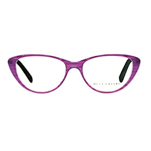 OCCI CHIARI Vintage Women Cat Eyeglasses Frame With Clear Lenses Ambar (Purple, 51)