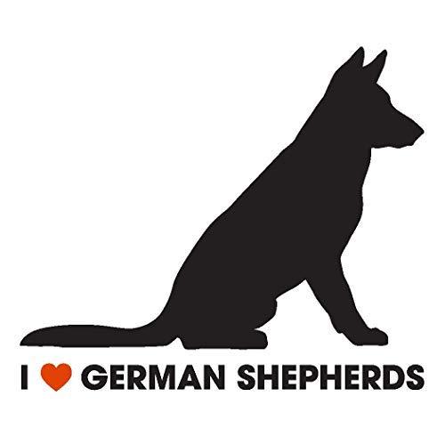 Dog Shepherd Sticker (I Love German Shepherds Car Sticker Decal)