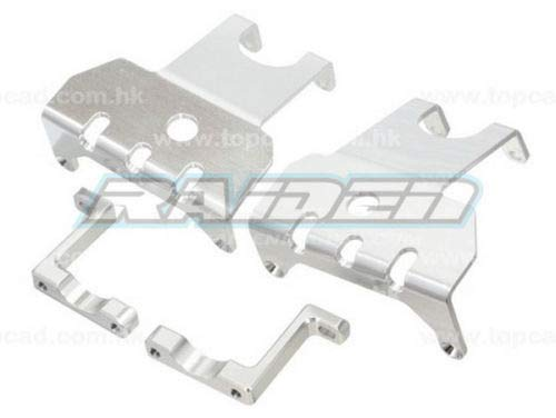 Raidenracing Alloy Aluminum Front + Rear Axle Protect Skid Plate for Axial Wraith 90018 90020 90031 - Silver