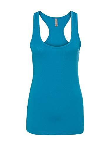 Next Level Men's Rib-Knit Pocket T-Shirt, XS, Turquoise - Rib Knit Racerback Tank