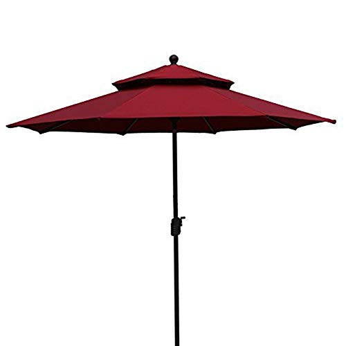 Cheap  EliteShade 9 Ft Patio Umbrella 2 Layers Outdoor Table Market Deck Umbrella..
