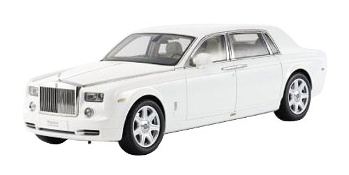 Rolls Royce Phantom Extended Wheelbase English White 1/18 Diecast Model Car by Kyosho 08841 EW