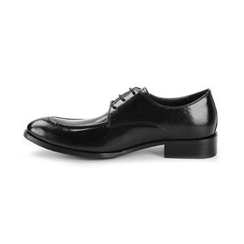 Lyzgf Mannen Gentleman Business Casual Mode Formele Kleding Banket Wees Veter Lederen Schoenen Zwart