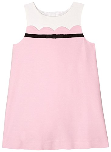 kate spade new york Girls' Scallop Dress, Cherry Blossom, 5 by Kate Spade New York