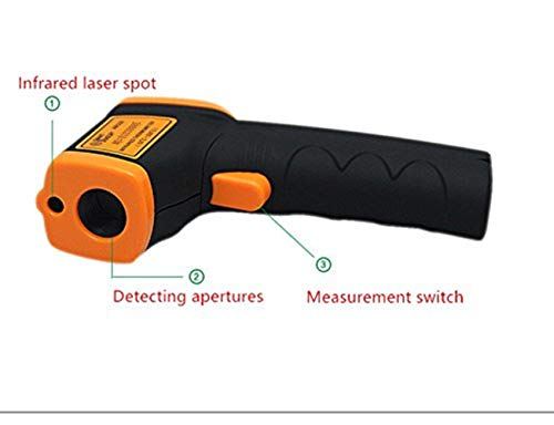 Infrared Thermometer IR Laser Thermometer Non-Contact Digital Temperature Gun -32°C~380°C (-26°F~608°F) Instant Read with Auto Shut-off Data Hold Function, LCD Backlight Display, Battery Included. by Junboys (Image #3)