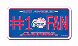 Los Angeles Clippers 75001 #1 FAN Metal Tag License Plate NBA Basketball