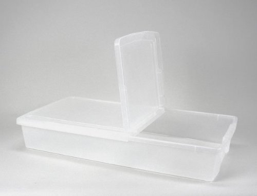 Iris Underbed Storage - IRIS Underbed Storage Box with Hinged Lid, Set of 2