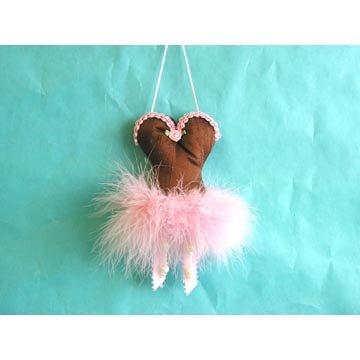 Mini Corset Sachet - Brown and Pink