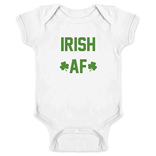 (Pop Threads Irish AF St. Patrick's Day Funny White 18M Infant Bodysuit)
