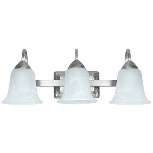 Feit Electric 73960 LED 3 Light LED Brushed Nickel Vanity with Alabaster Glass