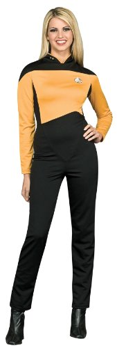 Secret Wishes  Star Trek the Next Generation Woman's Deluxe Gold Jumpsuit, Adult (Star Trek Outfits)