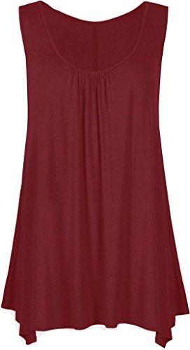Vanilla Inck - Camiseta sin mangas - para mujer Rojo