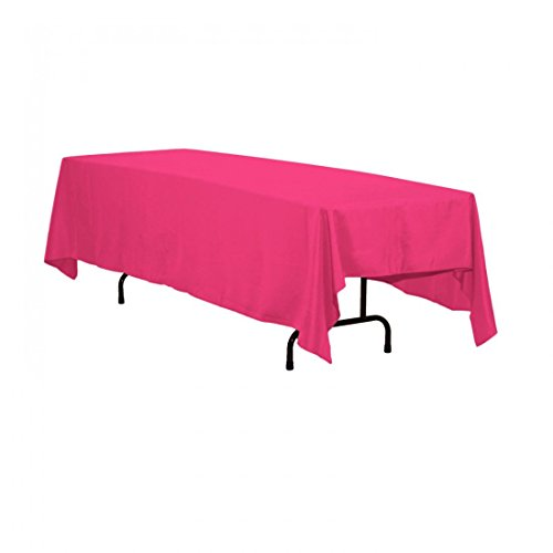 Pink Elegance Tablecloth (LinenTablecloth 70 x 120-Inch Rectangular Polyester Tablecloth Fuchsia)