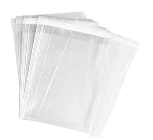 100PCS 11''x 14''/28x35cm Large Transparent Clear Flat Cello/Cellophane OPP Plastic Pags For T-shirt Towel Clothing​ Store Dress Shirts Pants Curtains Magazines Storage Packing by TUPWEL